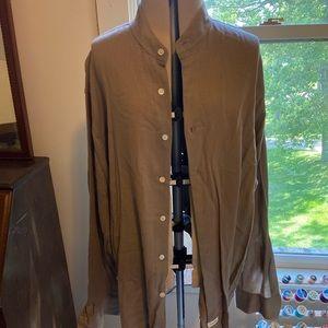 Men's brown button down dress shirt Calvin Klein